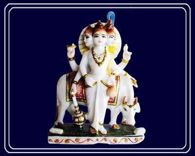 Pure Makrana Marble Shree Dattatreya Idol Dat03